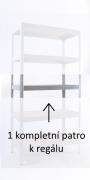KOMPLETTE FACHBODEN (METALLBODEN) FÜR METALLREGAL, 35 X 75 CM - VERZINKT, 175 KG PRO BODEN