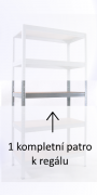 KOMPLETTE FACHBODEN (METALLBODEN) FÜR METALLREGAL, 45 X 120 CM - VERZINKT, 175 KG PRO BODEN