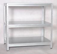 Metallregal mit Metallböden verzinkt 50 x 90 x 90 cm, 275 kg pro Boden