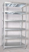 Metallregal mit Metallböden verzinkt 35 x 90 x 240 cm, 275 kg pro Boden