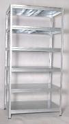 Metallregal mit Metallböden verzinkt 50 x 90 x 240 cm, 275 kg pro Boden