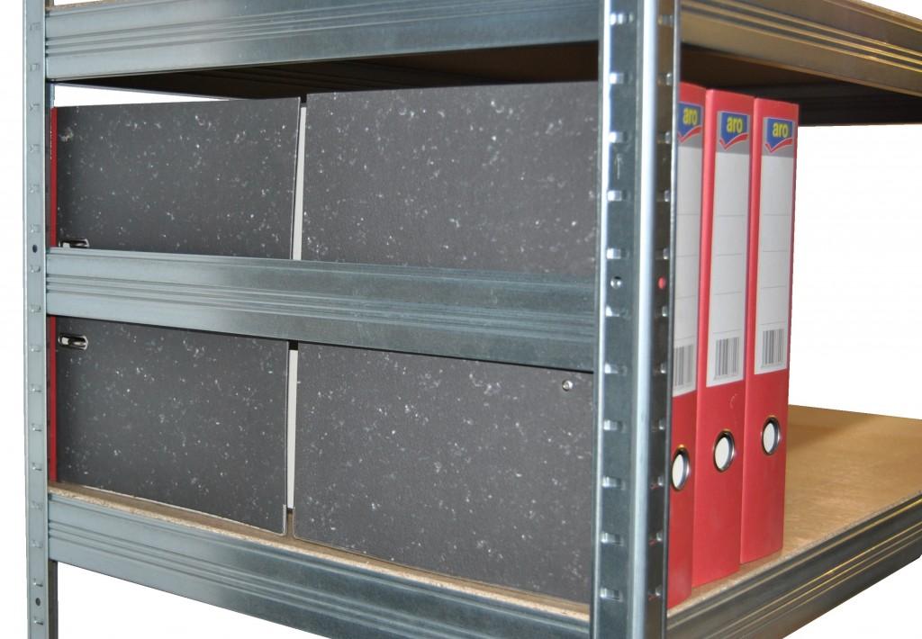 metallregal mit metallb den 40 x 80 x 90 cm 3 fachb den x 100 kg. Black Bedroom Furniture Sets. Home Design Ideas