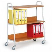 Büro wagen für Ordner Biedrax VK3624T - kirsche