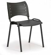 Konferenzstuhl - Kunststoff, schwarz Biedrax Z9118C, Fußgestell schwarz