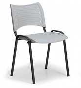 Konferenzstuhl - Kunststoff, grau Biedrax Z9118S, Fußgestell schwarz