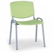 Konferenzstuhl - Kunststoff, grün Biedrax Z8988Z, Fußgestell grau