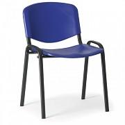 Konferenzstuhl - Kunstoff, ISO, blau Biedrax Z9517M, Fußgestell schwarz