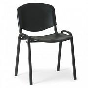 Konferenzstuhl - Kunstoff, ISO, schwarz Biedrax Z9517C, Fußgestell schwarz