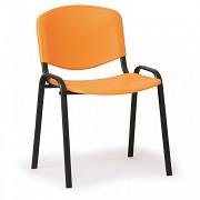 Konferenzstuhl - Kunstoff, ISO, Orange Biedrax Z9517O, Fußgestell schwarz
