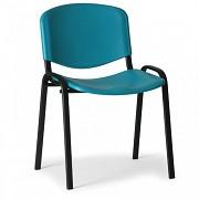 Konferenzstuhl - Kunstoff ISO, grün Biedrax Z9517Z, Fußgestell schwarz