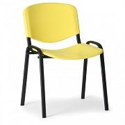Konferenzstuhl - Kunstoff ISO, gelb Biedrax Z9517ZL, Fußgestell schwarz