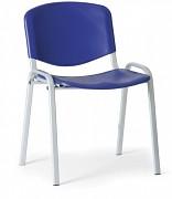 Konferenzstuhl - Kunstoff,  blau Biedrax Z9522M, Fußgestell grau