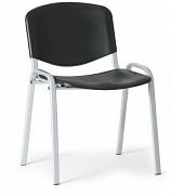 Konferenzstuhl - Kunstoff, schwarz Biedrax Z9522C, Fußgestell grau
