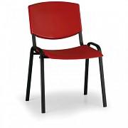 Konferenzstuhl - Kunstoff, rot Biedrax Z8982CV, Fußgestell schwarz