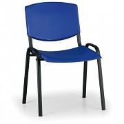 Konferenzstuhl - Kunstoff, blau Biedrax Z8982M, Fußgestell schwarz