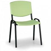 Konferenzstuhl - Kunstoff, grün Biedrax Z8982Z, Fußgestell schwarz