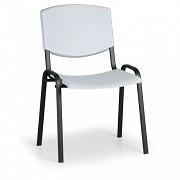 Konferenzstuhl - Kunstoff, grau Biedrax Z8982S, Fußgestell schwarz
