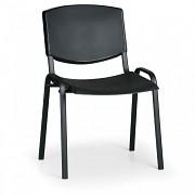 Konferenzstuhl - Kunstoff, schwarz Biedrax Z8982C, Fußgestell schwarz