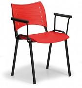 Konferenzstuhl - Kunstoff, rot Biedrax Z9123CV, Fußgestell schwarz