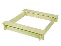Sandkasten mit Sitzbänken BIEDRAX 115 x 115 x 20 cm