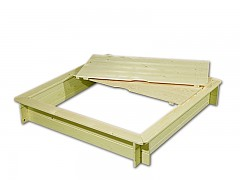 Sandkasten mit Sitzbänken und Deckel BIEDRAX 115 x 115 x 20 cm