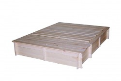 Sandkasten mit Sitzbänken, Deckel und Spielzeugbox BIEDRAX 140 x 185 x 30cm