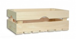 Holzkiste 34 x 20 x 12 cm - Biedrax