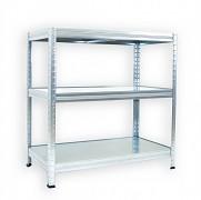 Steckregal verzinkt 50 x 60 x 90 cm - 3 Metalböden x 120 kg
